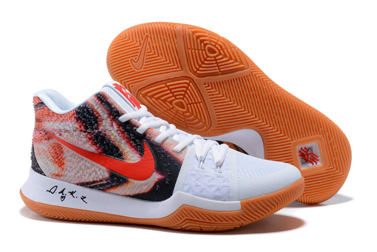Cheap Wholesale Kyrie 3 Nike Kyrie Irving 3 Air Cushion Red White Orange