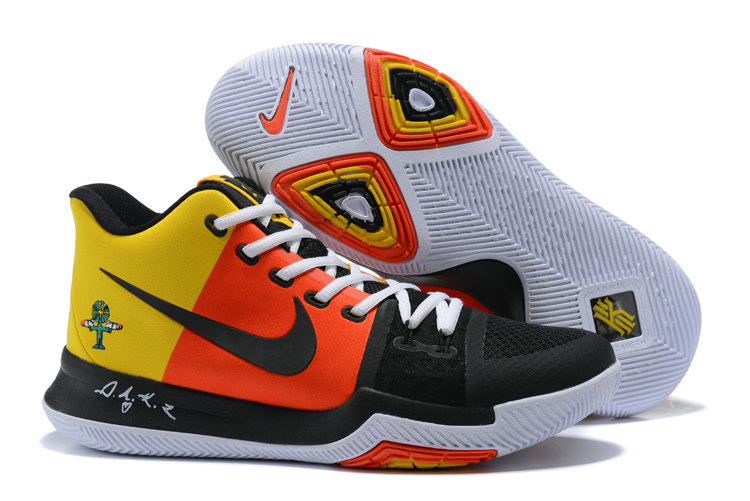 Cheap Wholesale Kyrie 3 Nike Kyrie Irving 3 Air Cushion Yellow Orange Black White
