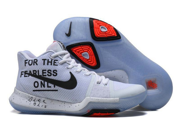 Cheap Wholesale Kyrie Irving 3 (III) White Orange Red Basketball Shoes