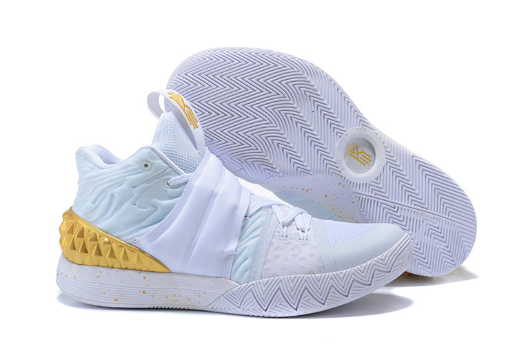 Cheap Wholesale Kyrie Irving Nike Kyrie S1Hybrid Gold White