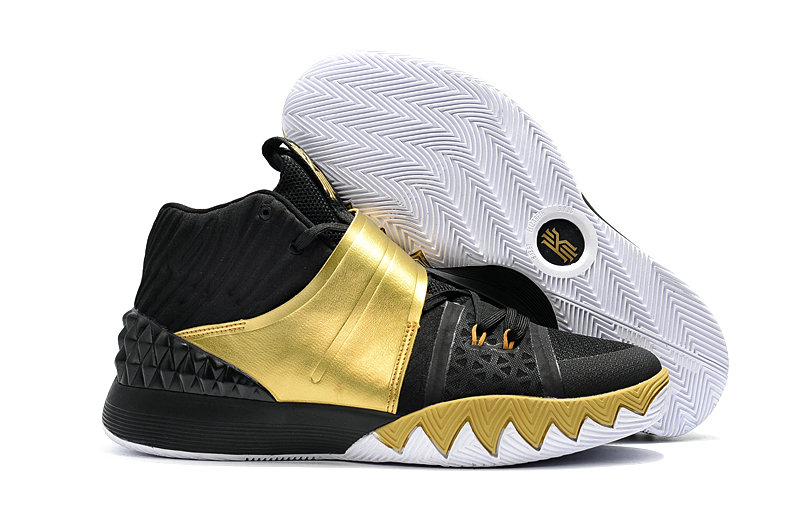 Cheap Wholesale Kyrie Irving Nike SIHYBRID Gold Black White