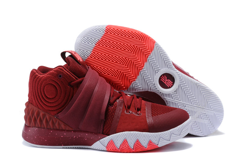 Cheap Wholesale Kyrie Irving Nike SIHYBRID Wine Red White