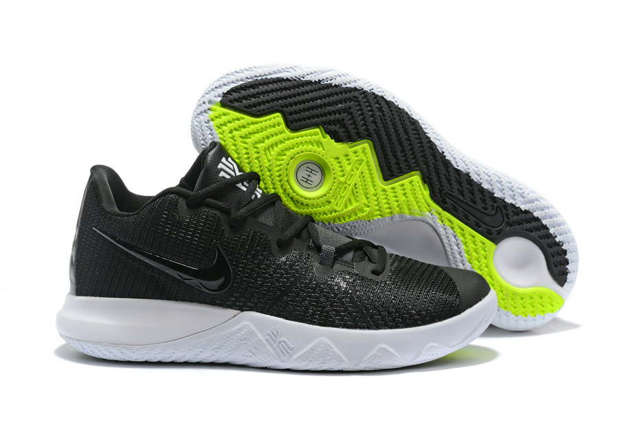 Cheap Kyrie Irvings Nike Kyrie Flytrap Black White Green