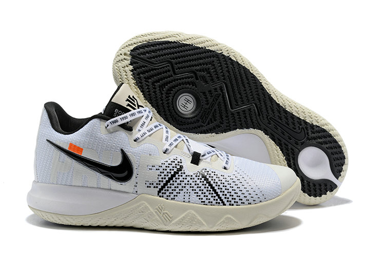 Cheap Kyrie Irvings Nike Kyrie Flytrap White Black Cream
