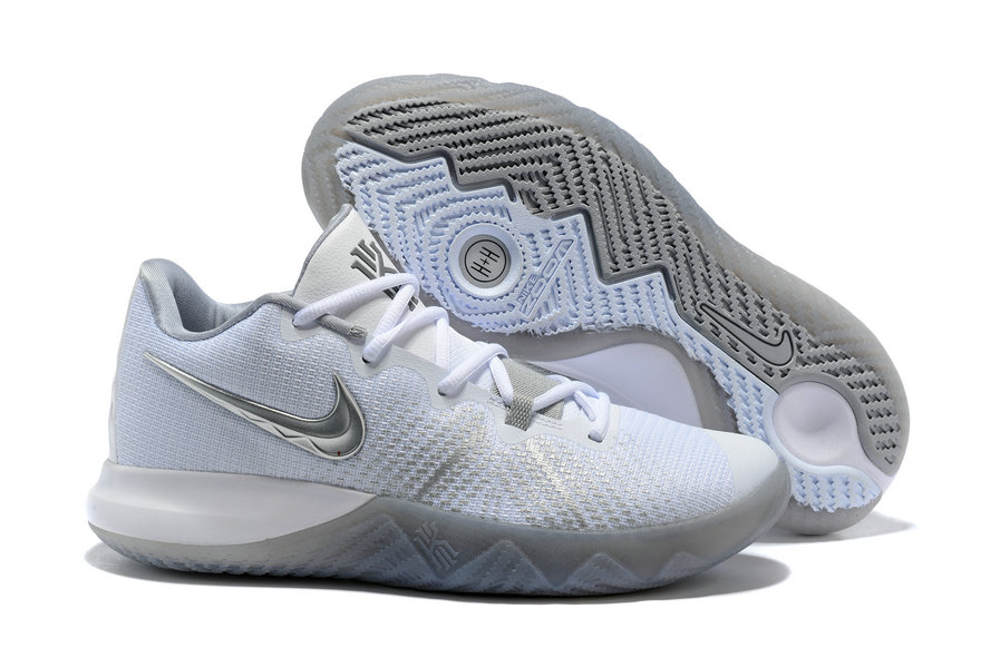Cheap Kyrie Irvings Nike Kyrie Flytrap White Grey Silver