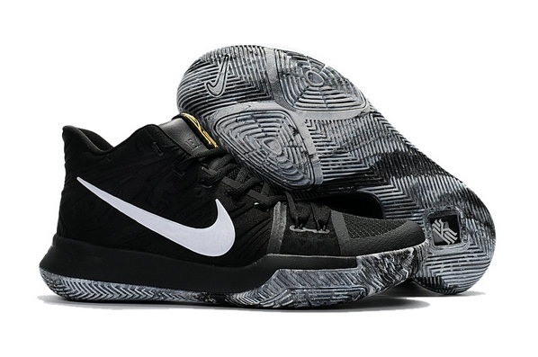 Cheap Wholesale Kyrie Shoes Nike Kyrie Irving 3 Kids Black White Grey