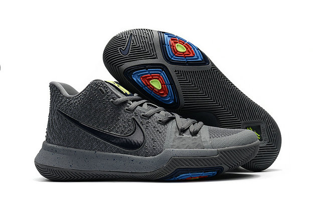 Cheap Wholesale Kyrie Shoes Nike Kyrie Irving 3 Kids Wolf Grey Black