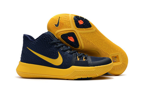 Cheap Wholesale Kyrie Shoes Nike Kyrie Irving 3 Womens Yellow Navy Blue