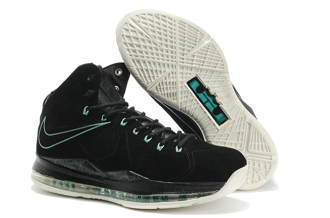Cheap Wholesale Lebron 10 Cork Black Green White