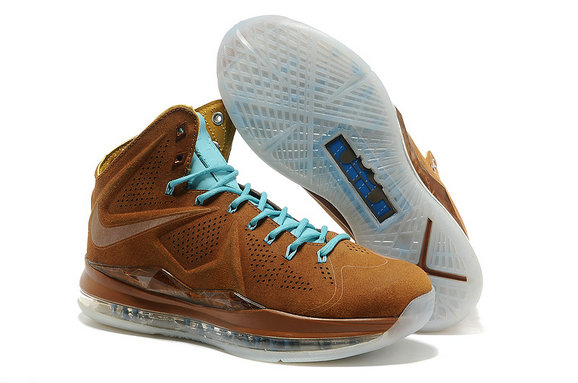 Cheap Wholesale Lebron 10 Cork Suede Sky Blue