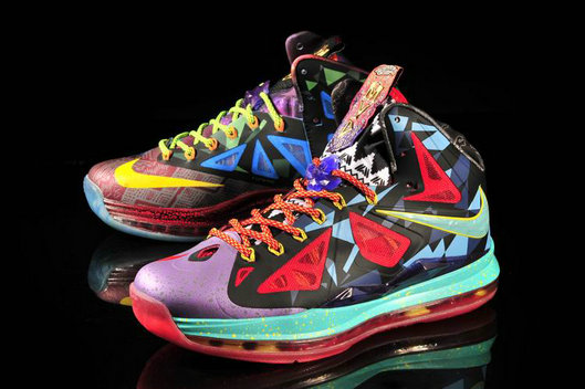 Cheap Wholesale Lebron 10 MVP Mens Purple Red Yellow Blue