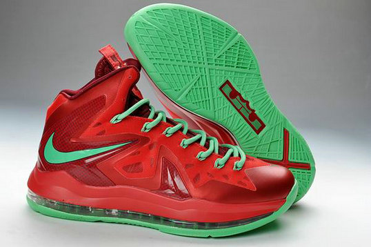 Cheap Wholesale Lebron 10 PS Elite Red Green