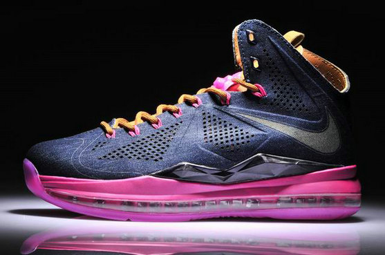 Cheap Wholesale Lebron 10 Pink Black Brown Limited Editions