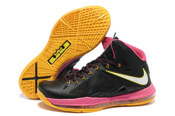Cheap Wholesale Lebron 10 Shoes Yellow Pink Black With Nike