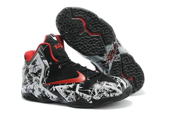 Cheap Wholesale Lebron 11 For Kids Red Black White