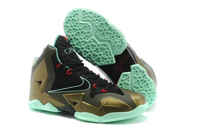 Cheap Wholesale Lebron 11 Womens Brown Black Blue Red