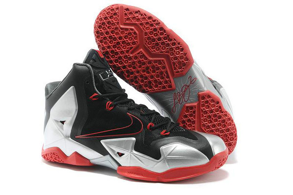 Cheap Wholesale Lebron 11 Womens Grey Red Black