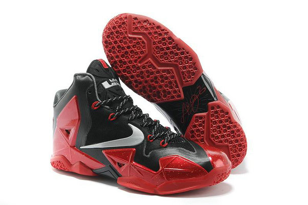 Cheap Wholesale Lebron 11 Womens Red Black Grey