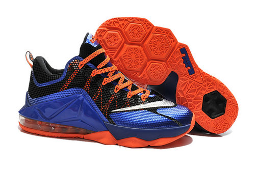 Cheap Wholesale Lebron 12 Low Black Blue Orange