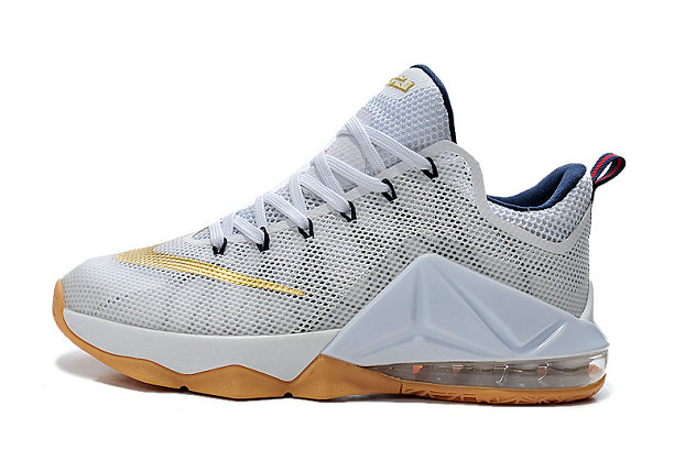 Cheap Wholesale Lebron 12 Low Gold White