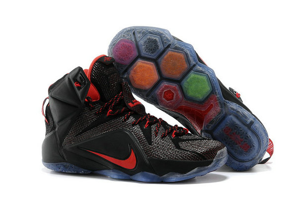 Cheap Wholesale Lebron 12 Womens Fire Red Black