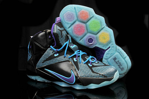 Cheap Wholesale Lebron 12 Womens Purple Black Blue
