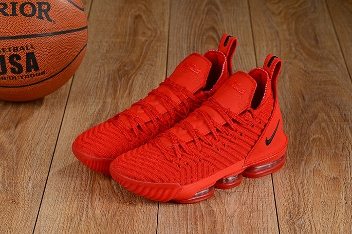 Wholesale Cheap Lebron 16 Shoes Total Red