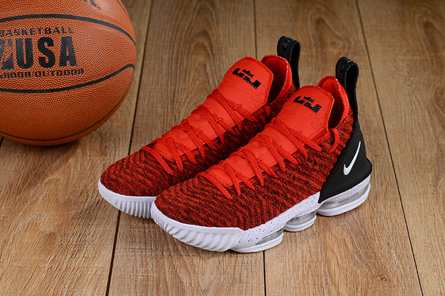 Wholesale Cheap Lebron 16 Shoes University Red Black