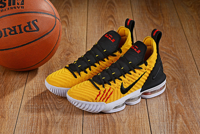 Wholesale Cheap Lebron 16 Shoes Yellow Black Red White