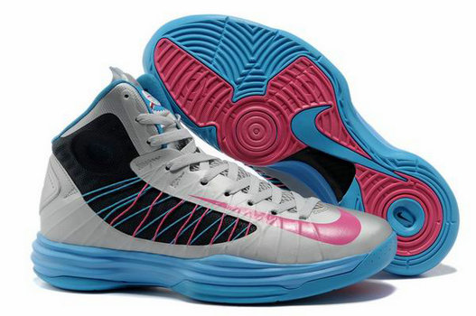 Cheap Wholesale Lebron Lunar Hyperdunk 2012 Grey Blue Pink