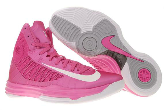 Cheap Wholesale Lebron Lunar Hyperdunk 2012 Pink Grey White