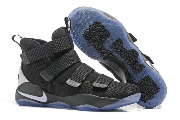Cheap Wholesale Lebron Soldier 11 Black Blue White