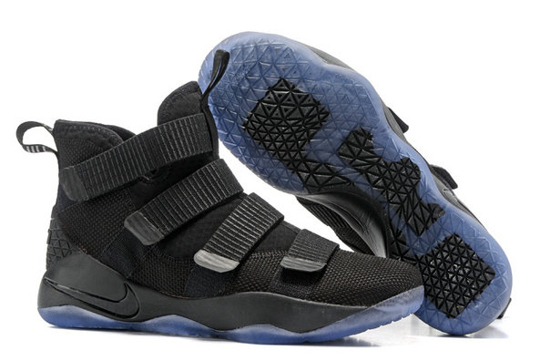 Cheap Wholesale Lebron Soldier 11 Black Light Blue