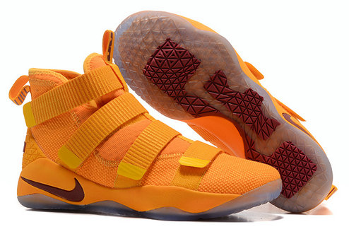 Cheap Wholesale Lebron Soldier 11 Orange Wine Red