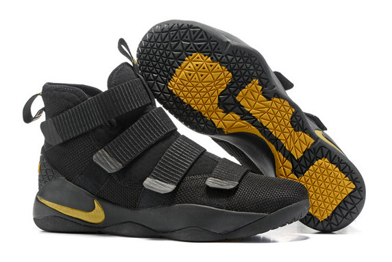 Cheap Wholesale Lebron Soldier 11 Yellow Black