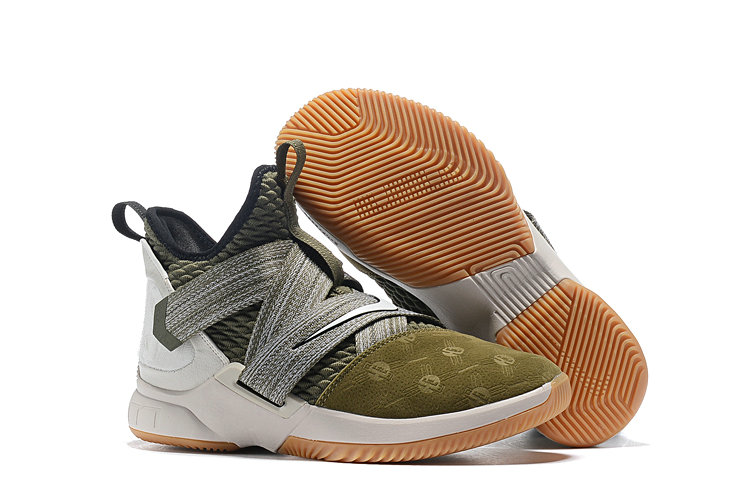 Wholesale Cheap Lebron Soldier 12 Army Green Grey