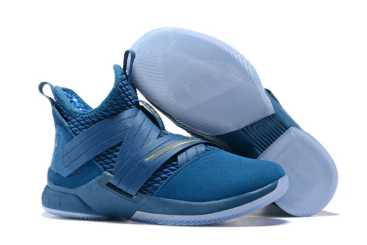 7c902281748 Cheap Wholesale Nike Lebron Soldier 12 Navy Blue White Yellow ...