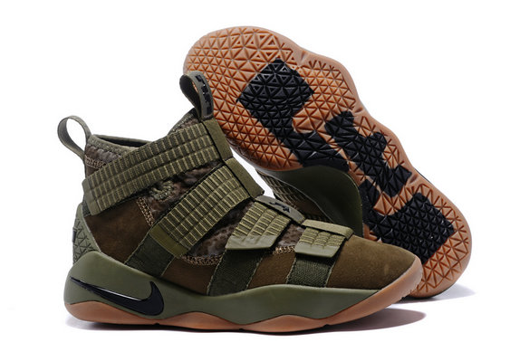 Cheap Wholesale Lebron Soldier Nike Lebron Soldier 11 Army Green Gold Black