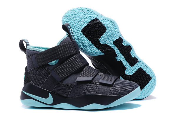 Cheap Wholesale Lebron Soldier Nike Lebron Soldier 11 Black Grass Green