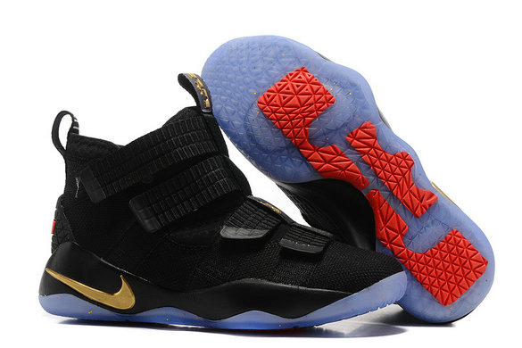 Cheap Wholesale Lebron Soldier Nike Lebron Soldier 11 Gold Black Blue Red