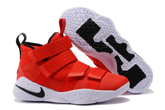 Cheap Wholesale Lebron Soldier Nike Lebron Soldier 11 Grey Black Gold Red White Black