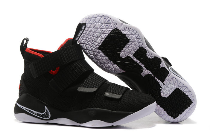 Cheap Wholesale Lebron Soldier Nike Lebron Soldier 11 Grey Black Red
