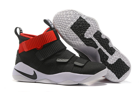 Cheap Wholesale Lebron Soldier Nike Lebron Soldier 11 Red Black White