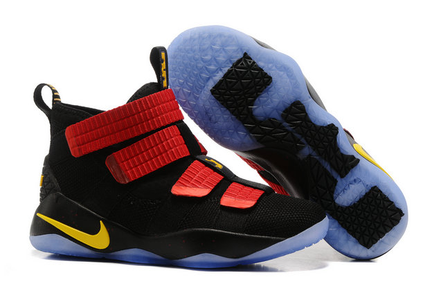 Cheap Wholesale Lebron Soldier Nike Lebron Soldier 11 Red Black Yellow