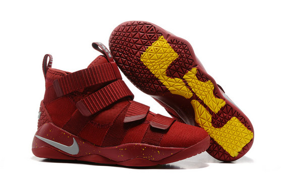 Cheap Wholesale Lebron Soldier Nike Lebron Soldier 11 Yellow Grey Wine Red