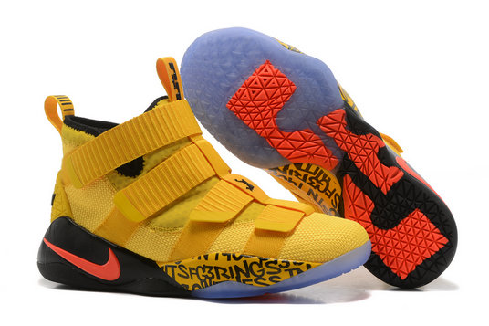 Cheap Wholesale Lebron Soldier Nike Lebron Soldier 11 Yellow Orange Black