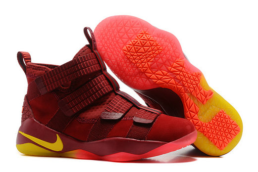 Cheap Wholesale Lebron Soldier Nike Lebron Soldier 11 Yellow Red Orange