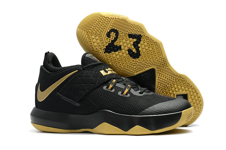 Nike Lebron Cheap Wholesale x Nike LeBron Ambassador 10 Gold Black