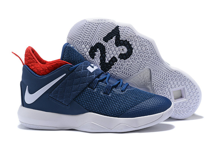 Nike Lebron Cheap Wholesale x Nike LeBron Ambassador 10 Navy Blue Red White