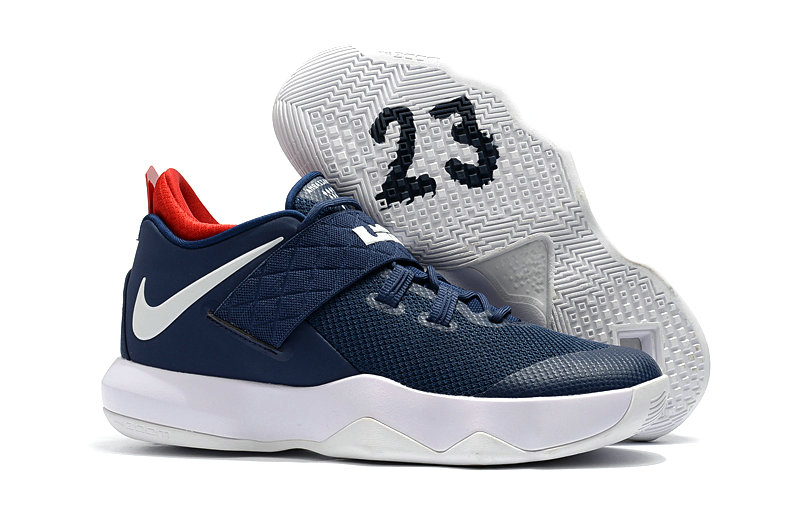 Nike Lebron Cheap Wholesale x Nike LeBron Ambassador 10 Navy Blue White